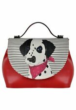 Dogo Vegan Leather Dalmatian Backpack Handbag Shoulder Travel School Bags Girl