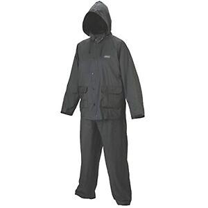 Coleman Rain Defense PVC Rain Suit GRAY Size Medium 2 piece Pants & Jacket Coat