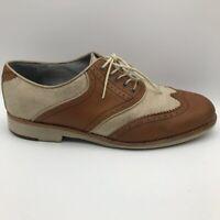 Johnston & Murphy Mens Ellington Oxford Dress Shoes Brown Sheepskin Leather 9 M