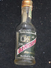 1972 OLD FITZGERALD Whiskey Bottle Mini 100 proof Bottled in Bond