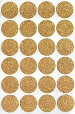 Sparkly Gold Color Coding Dot Stickers 1 Inch 25mm Round Circle Labels 120 Pack