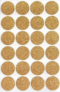 Envelope seals Gold Glitter Sparkly Labels 1 Inch 25mm Rounded Dots 360 Pack