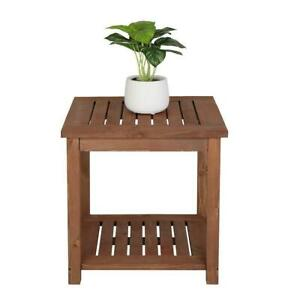 """18"""" Patio Side End Table Weather Resistant Outdoor Square Tables Portable Home"""