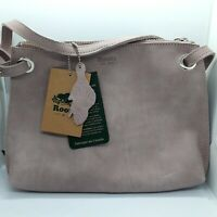 NWT Roots Woodrose Edie Tribe purse, natural leather purse Womens crossbody