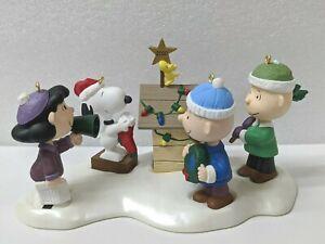 50 YEARS OF PEANUTS! ~ A SNOOPY CHRISTMAS ~ 5 Pc Set ~ Hallmark Ornaments ~ 2000