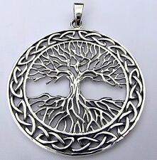Sterling Silver (925)  Tree Of  Life  In  Celtic  Circle  Pendant   !!    New !!