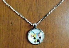 collier 51 cm avec pendentif chien chihuahua