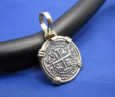 14K Gold Bezel Replica Pirate Shipwreck Coin Cobb Doubloon Pendant BEST SELLER