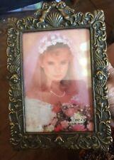 Brasstone Cupid /angel Frame 3.5� X 5� Vintage Preowned