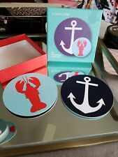 New listing Sunnylife Reversible Coasters *New* Anchors & Lobsters Nautical