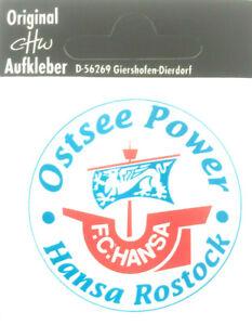 FC Hansa Rostock Ostsee Power Aufkleber Bundesliga Fussball #621