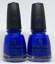 China Glaze Nail Polish FROSTBITE 634 Vibrant Metallic Royal Blue Lacquer