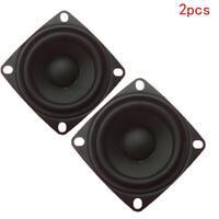 """2pcs 2"""" inch 4Ohm 3W Full Range Audio Speaker Stereo Woofer Loudspeaker 52m E1V0"""