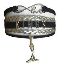 Los Angeles Kings Hockey Infinity Bracelet Jewelry Apparel