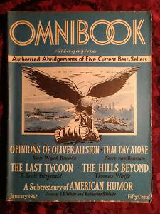 OMNIBOOK January 1942 Van Wyck Brooks F. Scott Fitzgerald Thomas Wolfe E B White