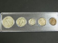 1927 Year Set, 5 Coins Half Dollar-Cent! Early U.S. Coins!!