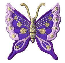 Écusson patche transfert thermocollant Papillon butterfly violet patch