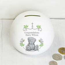 Personalised Piggy Bank Money Box Christening Baptism 1st Holy Communion Gifts
