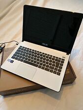 "Asus X401A Notebook Laptop White 14"" Screen Pentium 2.2GHz 4GB RAM Win 7 Boxed"