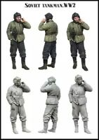 1:35 Resin Figure Model Kit Soviet Tanks in Smoking WWII Unpainted