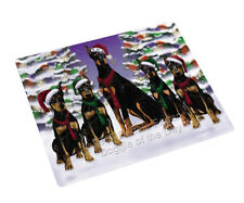 Doberman Pinschers Dog Christmas Family Tempered Cutting Board Large Db1068