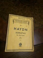 Haydn Sonatas For the Piano Book 1 Schirmer'S Library Of Musical Classics 1967