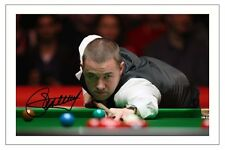 STEPHEN HENDRY SNOOKER WORLD CHAMPION SIGNED AUTOGRAPH PHOTO PRINT