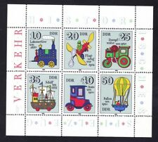 Germany DDR 2149 MNH 1980 Toy Trains Boats Cars Ships Planes Mini Sheet of 6 VF