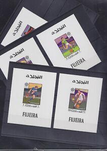 086737 Fussball WM `70 Soccer Arabia Fujeira ** MNH Stamps Briefmarken