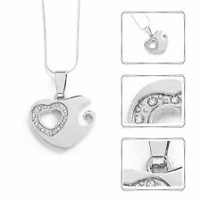 Necklace Heart Pendant Silver Colored 45 cm Fashion Ladies Jewellery NEW
