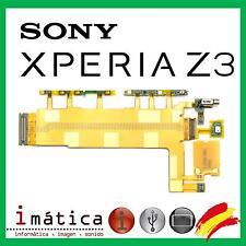 CABLE FLEX SONY XPERIA Z3 BOTON ENCENDIDO POWER MICROFONO VOLUMEN CONTROL D6603