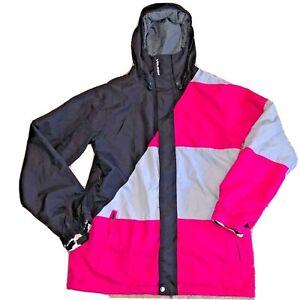 VOLCOM Md Snowboarding Ski Johnny Jacket 10K MM Black Magenta Gray EUC