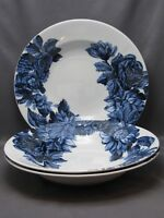 MIDNIGHT BLUE by MARCHESA LENOX, SET of 3 SOUP BOWLS, DISHWASHER SAFE, NEW!