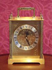 Vintage German 'Junghans' Gorgeous Solid Brass Carriage Quartz Clock