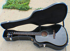 Fender CD60CE 6-String RH Acoustic Electric Guitar - Black in Hard Shell Case
