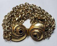 Fashion Jewelry Bracelet Runaway Statement Chunky Gold Tone Snail Swirl