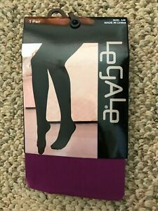 """Womens Legale Purple Tights Size A/B (4'11""""-5'5"""") 100-150 lbs"""
