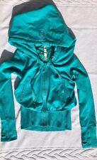 Lululemon Size 4 Exhale Jacket Blue Hoodie Zip Up EUC Flashback Coat run Scuba