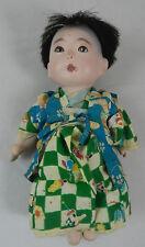 Vintage Japanese Gofun Baby  Boy Doll in Kimono
