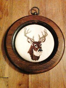 """Small Deer Wall Hanging, 7"""" Diameter"""