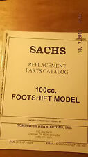 Sachs 100cc Footshift Model Parts Catalogue 00496 [3-10-5]