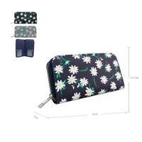Women's Designer Style Daisy Print Design Ladies Long Purse Wallet