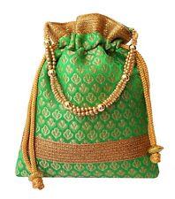 Rich Brocade Potli Bag Indian Ethnic Drawstring Handbag Marriage Return Gift GR6