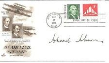 Johnnie Johnson First Day Cover Honoring Wright Brothers Signed 1971 w/COA