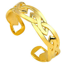 Trinity Celtic Irish Toe Ring 10K 14K Solid Yellow Gold Purity