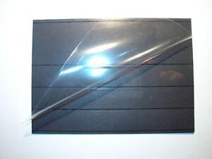 50 Steckkarten / Einsteckkarten C6 NEU mit 4 Streifen und Folie