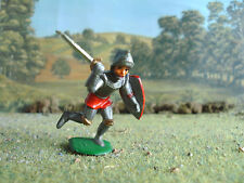 Vintage Medieval knight attacking 1:35 painted
