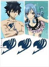 Anime Cosplay Temporary Tattoo Body Sticker Fairy Tail Gray Juvia Seal Logo 3pcs