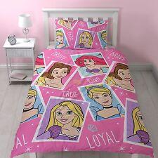 Cama Individual Princesa Valiente duvet cover set Ariel Belle Cenicienta Rosa Star Pics