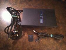 New listing Sony PlayStation 2 Ps2 Fat Scph-50001 Black Console with Component cables Extras